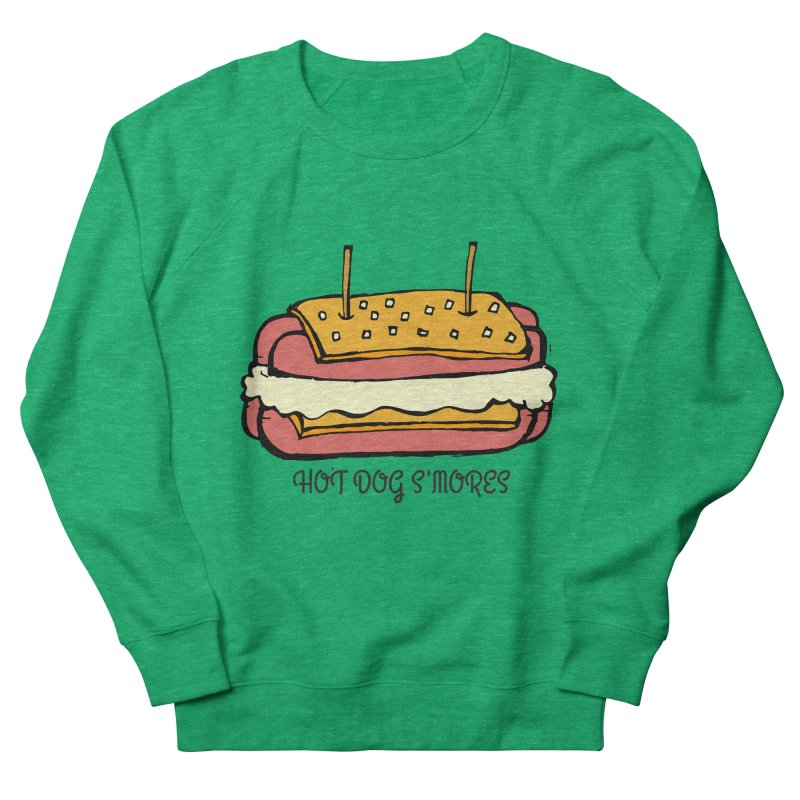 Hot Dog S'mores Women's Sweatshirt by Angry Squirrel Studio