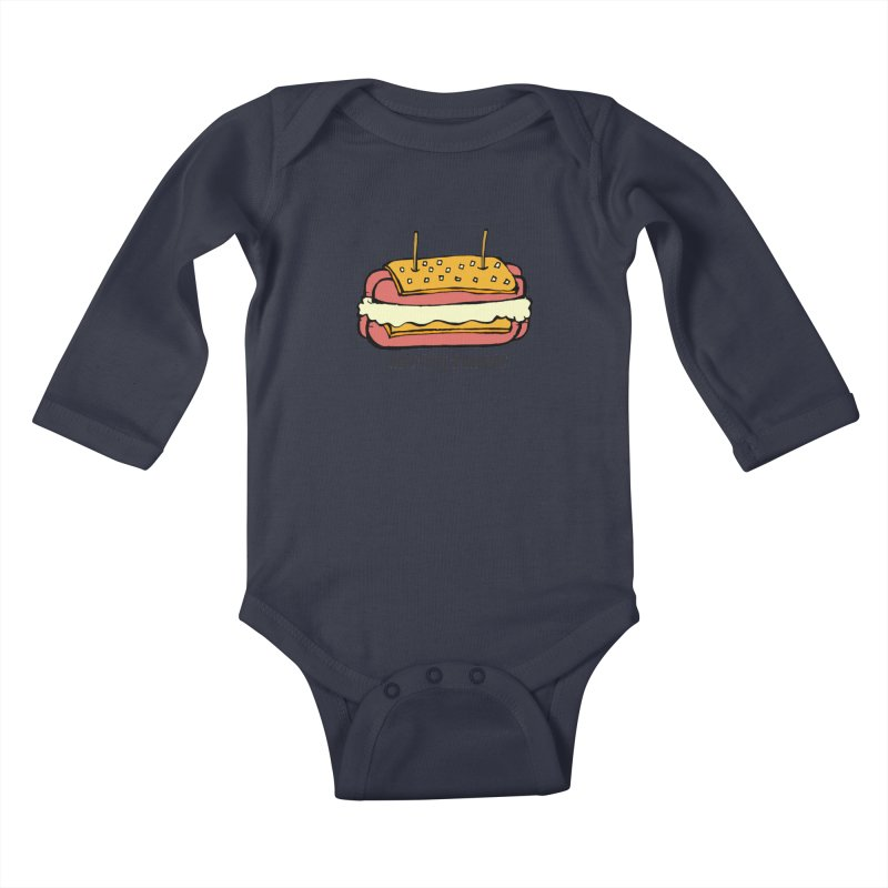 Hot Dog S'mores Kids Baby Longsleeve Bodysuit by Angry Squirrel Studio