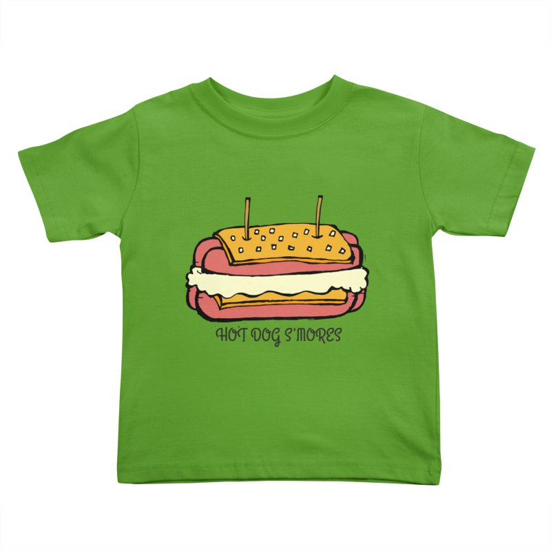 Hot Dog S'mores Kids Toddler T-Shirt by Angry Squirrel Studio