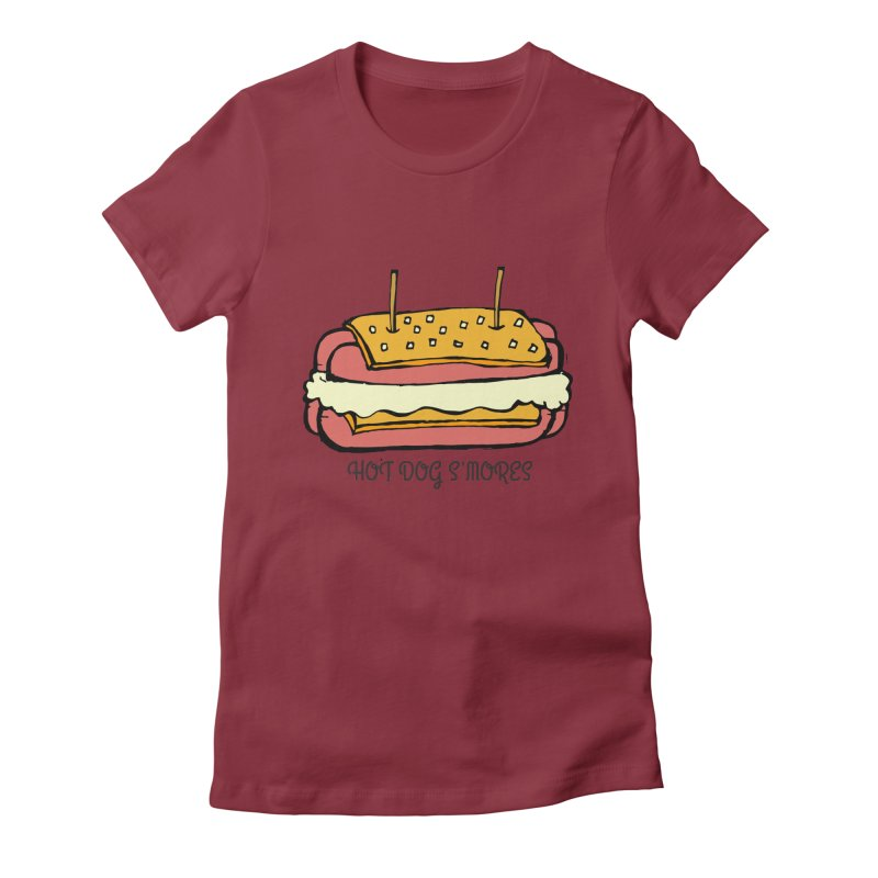 Hot Dog S'mores Women's T-Shirt by Angry Squirrel Studio