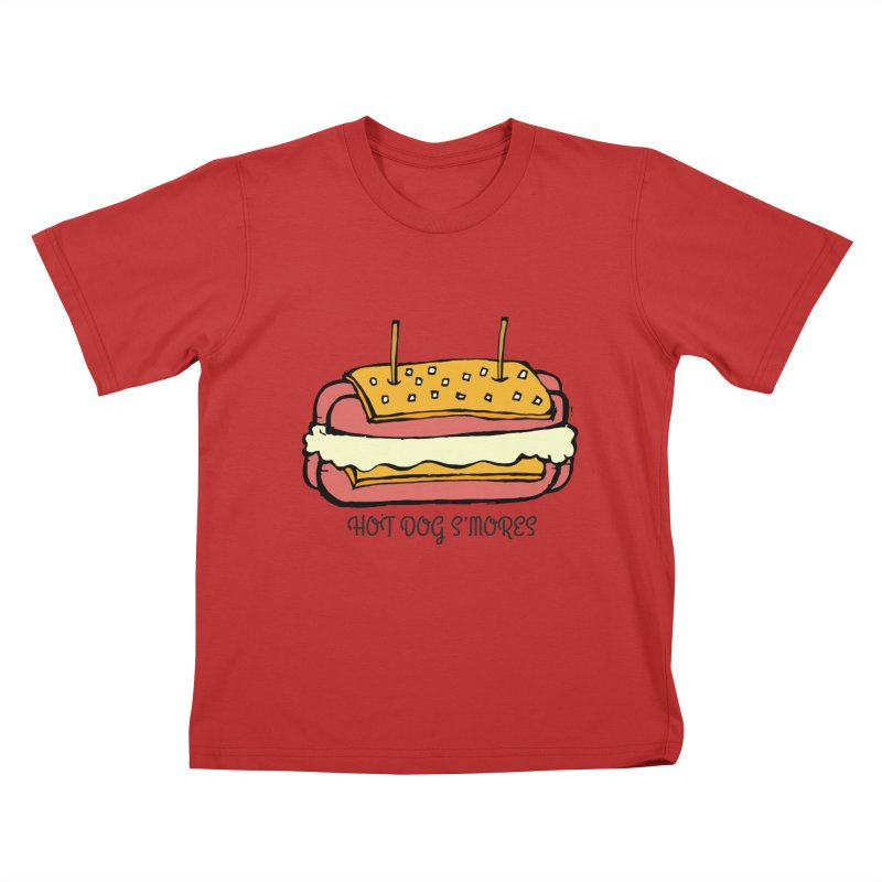 Hot Dog S'mores Kids T-Shirt by Angry Squirrel Studio