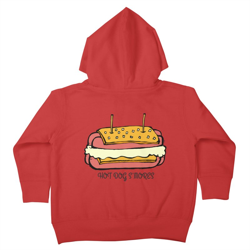 Hot Dog S'mores Kids Toddler Zip-Up Hoody by Angry Squirrel Studio
