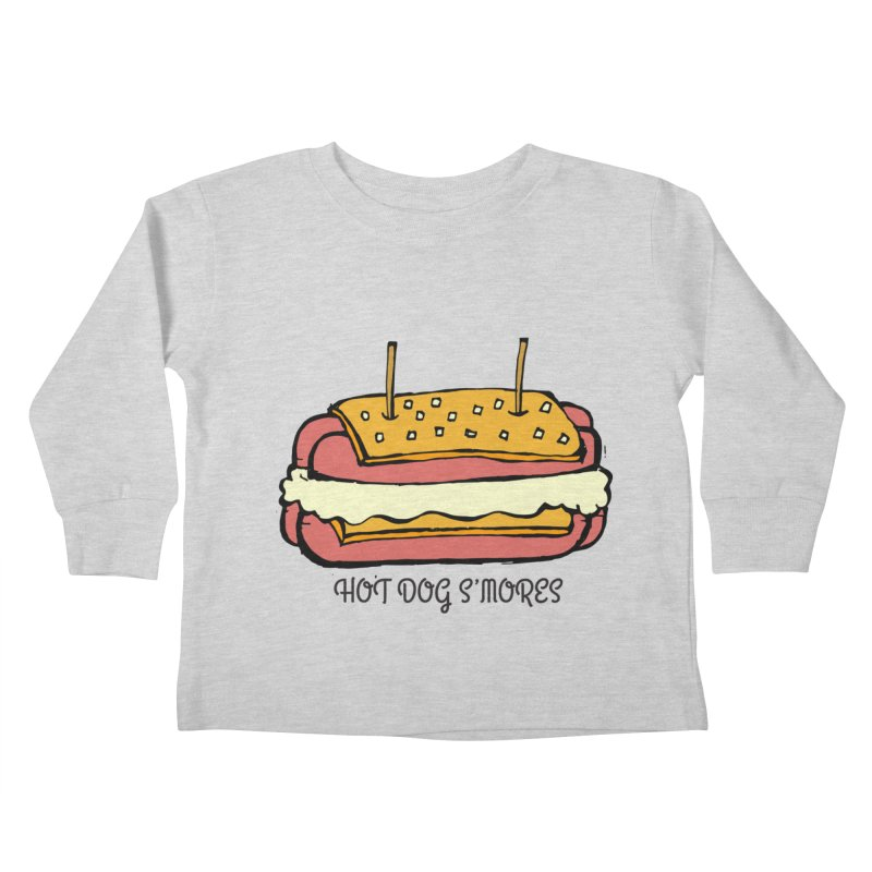 Hot Dog S'mores Kids Toddler Longsleeve T-Shirt by Angry Squirrel Studio
