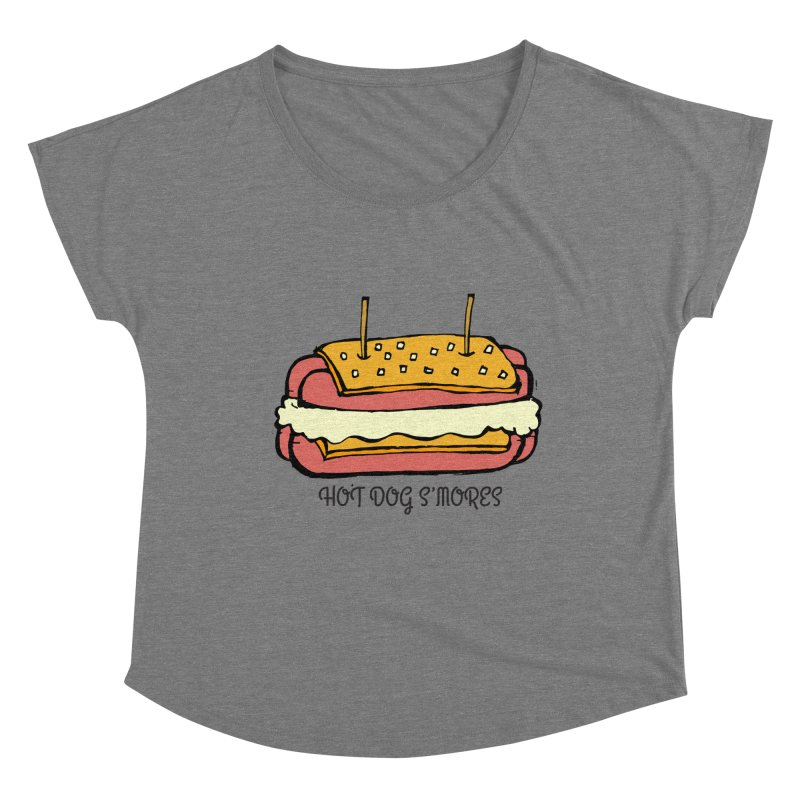 Hot Dog S'mores Women's Scoop Neck by Angry Squirrel Studio