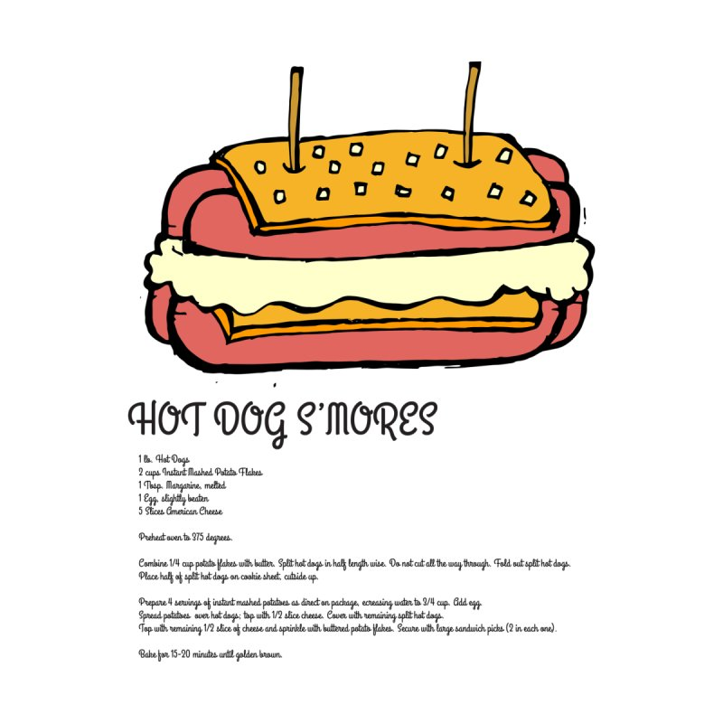 Hot Dog S'mores Recipe by Angry Squirrel Studio