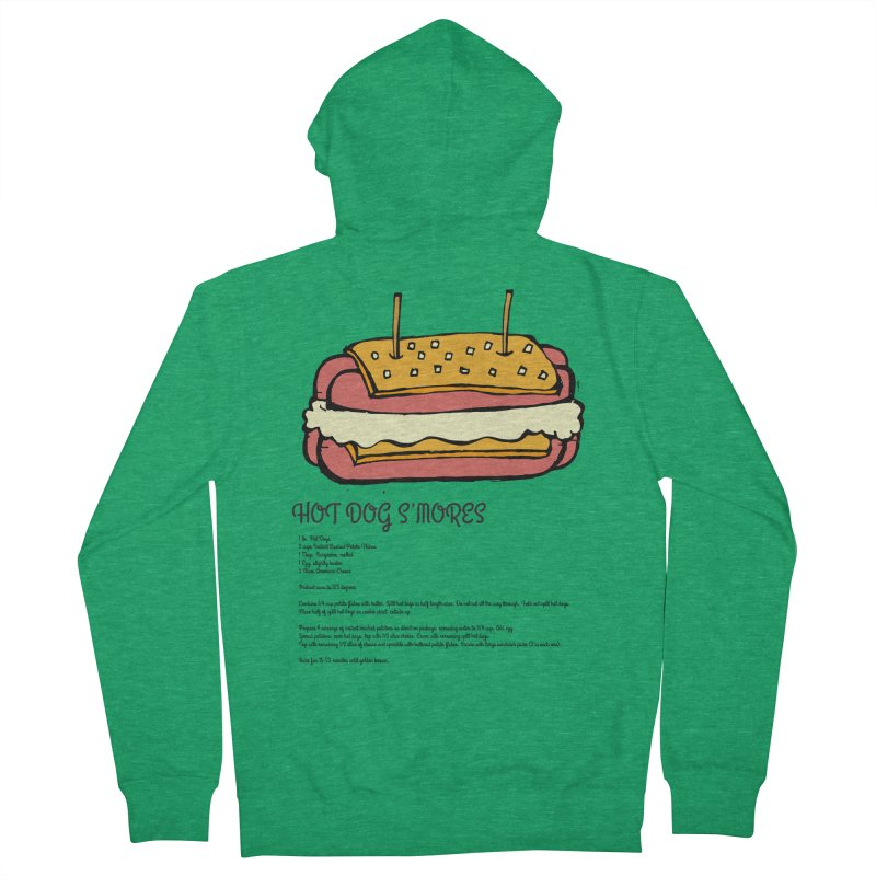 Hot Dog S'mores Recipe Men's Zip-Up Hoody by Angry Squirrel Studio