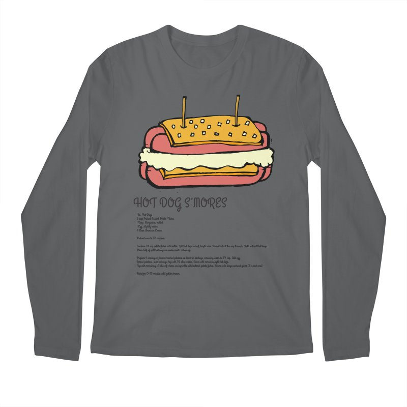 Hot Dog S'mores Recipe Men's Longsleeve T-Shirt by Angry Squirrel Studio
