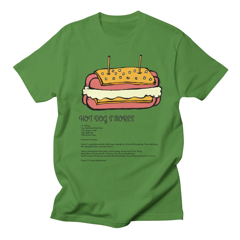 Hot Dog S'mores Recipe Men's T-Shirt by Angry Squirrel Studio