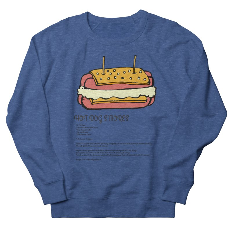 Hot Dog S'mores Recipe Men's Sweatshirt by Angry Squirrel Studio