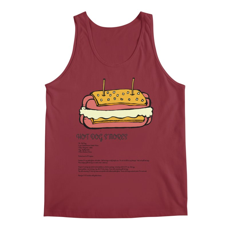 Hot Dog S'mores Recipe Men's Tank by Angry Squirrel Studio