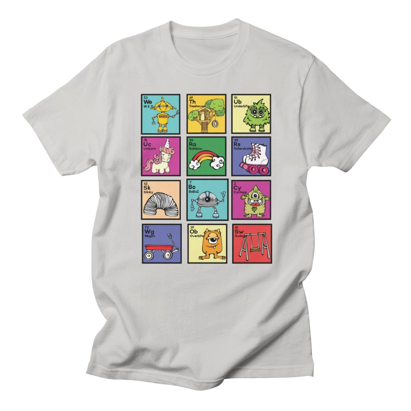 iMAGINATION tABLE in Men's Regular T-Shirt Stone by Angry Squirrel Studio