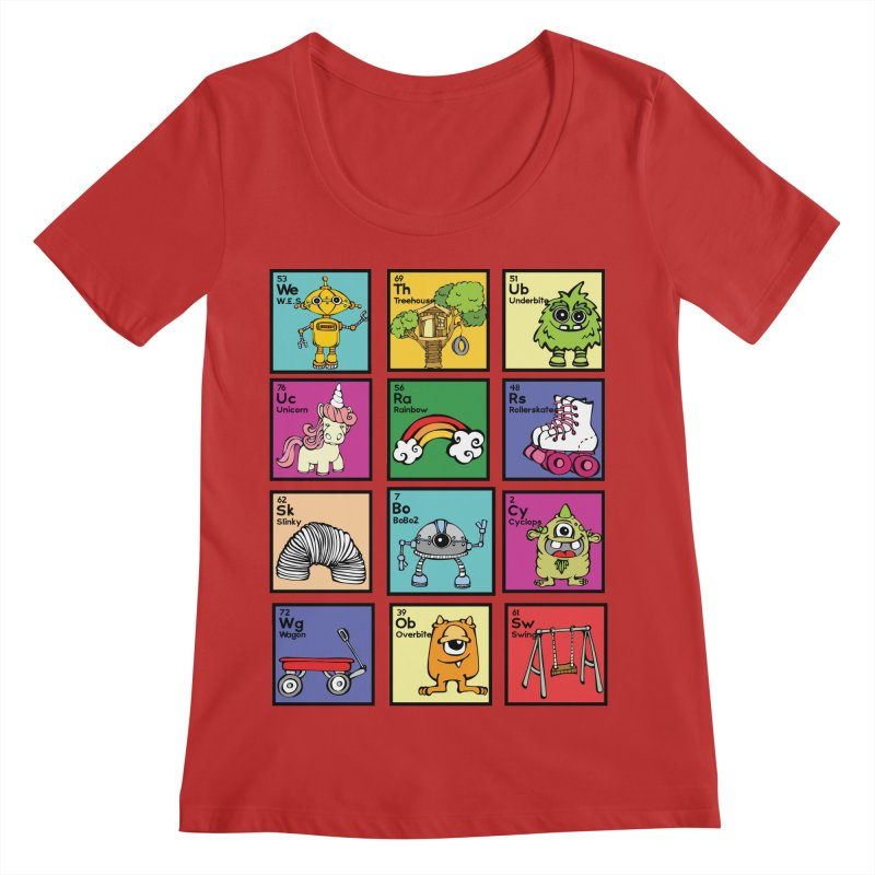 iMAGINATION tABLE Women's Regular Scoop Neck by Angry Squirrel Studio