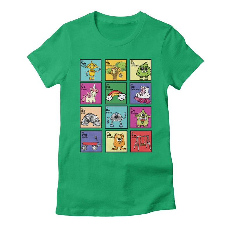 iMAGINATION tABLE Women's Fitted T-Shirt by Angry Squirrel Studio