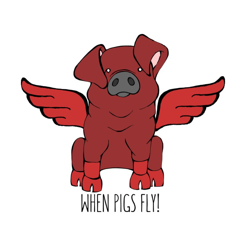 When Pigs Fly! Duroc by Angry Squirrel Studio