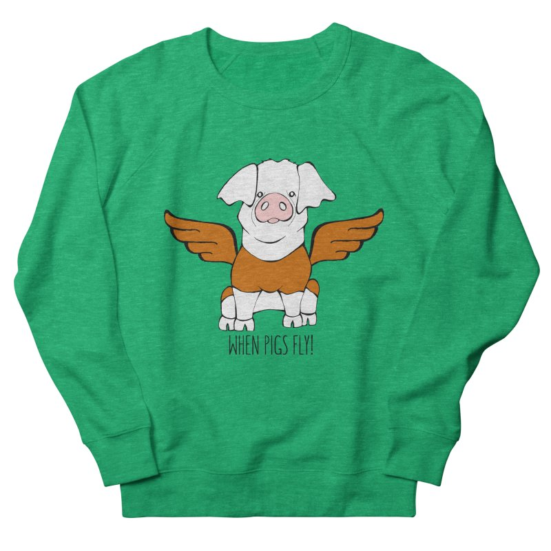 When Pigs Fly! Hereford Women's Sweatshirt by Angry Squirrel Studio