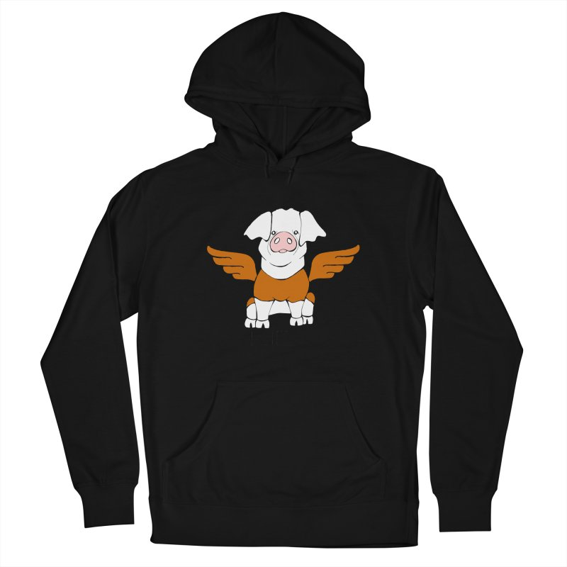 When Pigs Fly! Hereford Women's French Terry Pullover Hoody by Angry Squirrel Studio