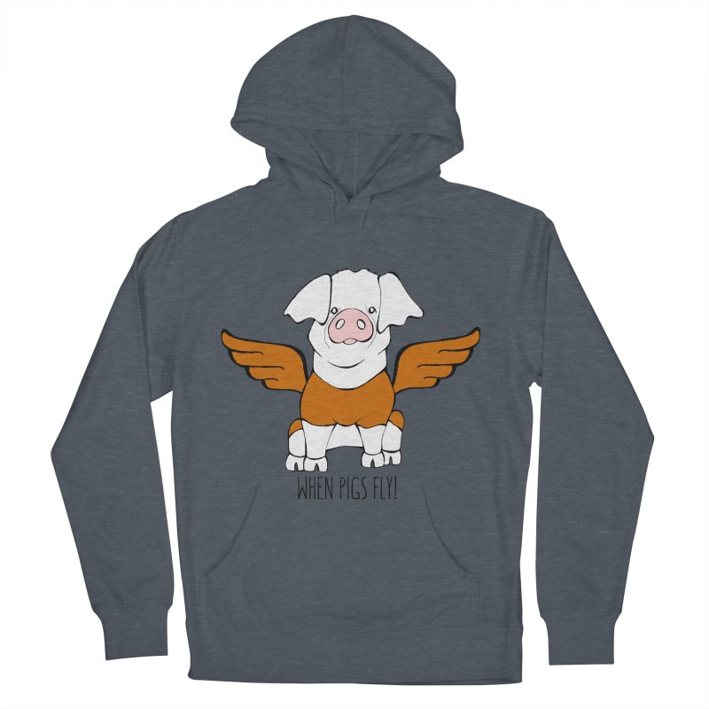 When Pigs Fly! Hereford Men's Pullover Hoody by Angry Squirrel Studio