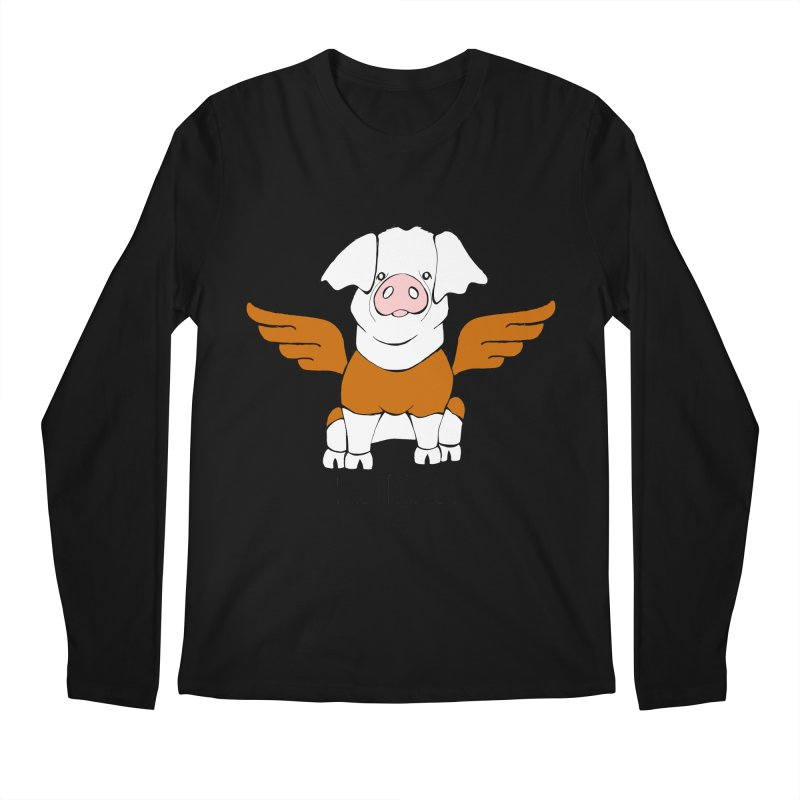When Pigs Fly! Hereford Men's Longsleeve T-Shirt by Angry Squirrel Studio
