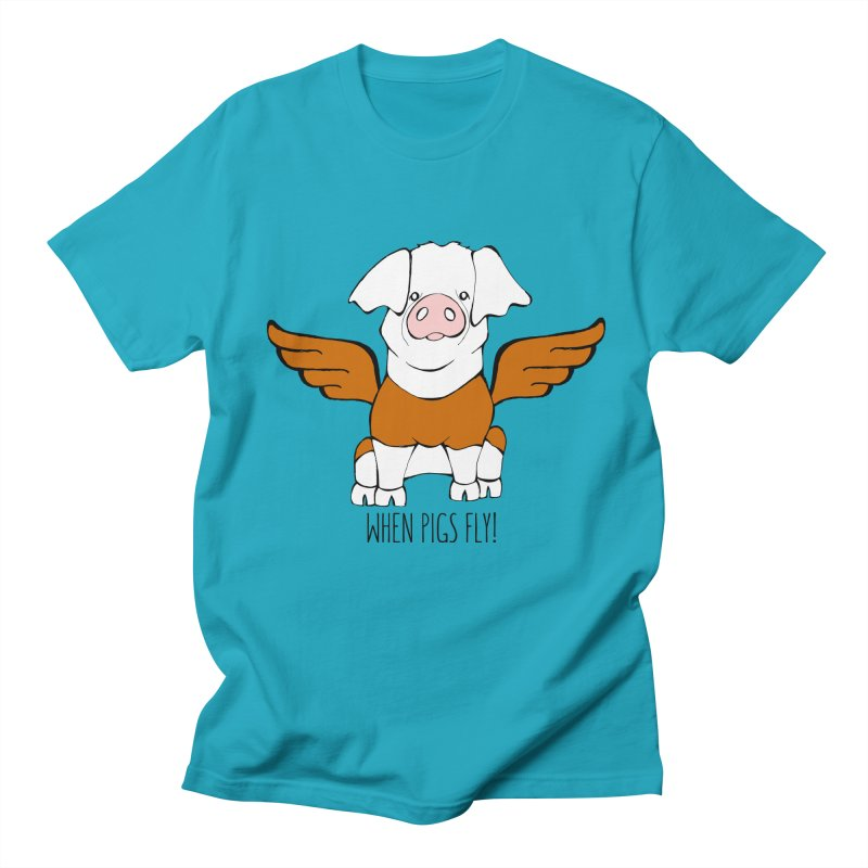When Pigs Fly! Hereford Women's Unisex T-Shirt by Angry Squirrel Studio