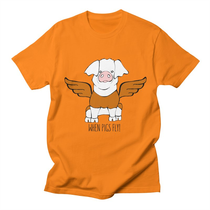 When Pigs Fly! Hereford Women's Regular Unisex T-Shirt by Angry Squirrel Studio