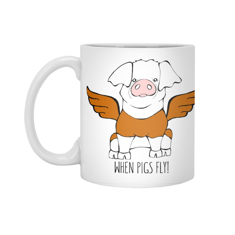 When Pigs Fly! Hereford Accessories Standard Mug by Angry Squirrel Studio
