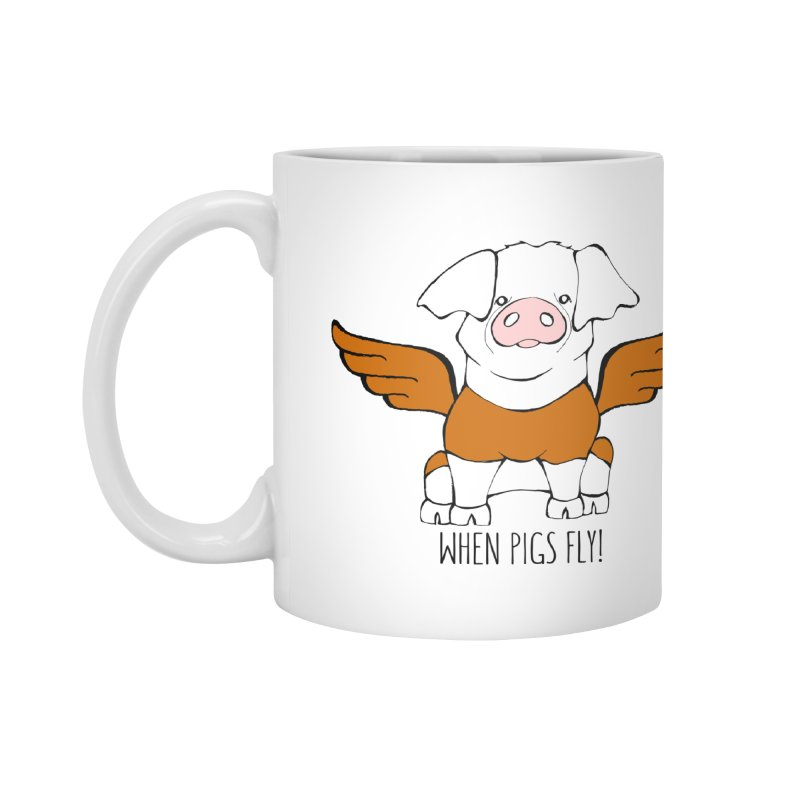 When Pigs Fly! Hereford Accessories Mug by Angry Squirrel Studio