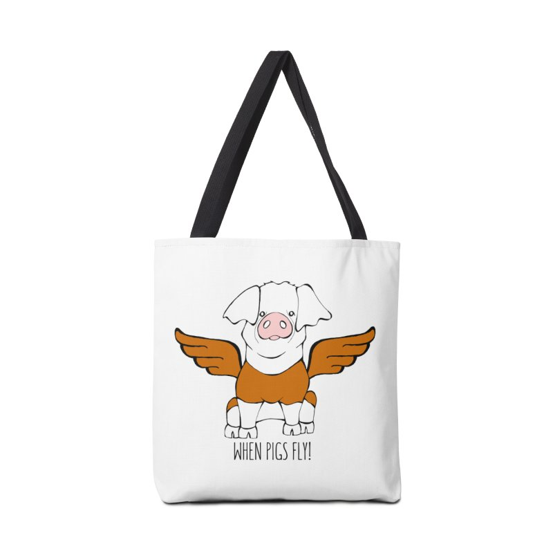 When Pigs Fly! Hereford Accessories Bag by Angry Squirrel Studio