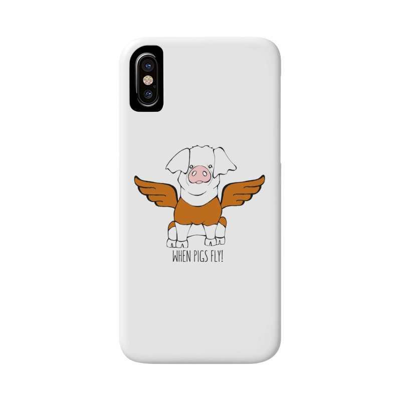 When Pigs Fly! Hereford Accessories Phone Case by Angry Squirrel Studio