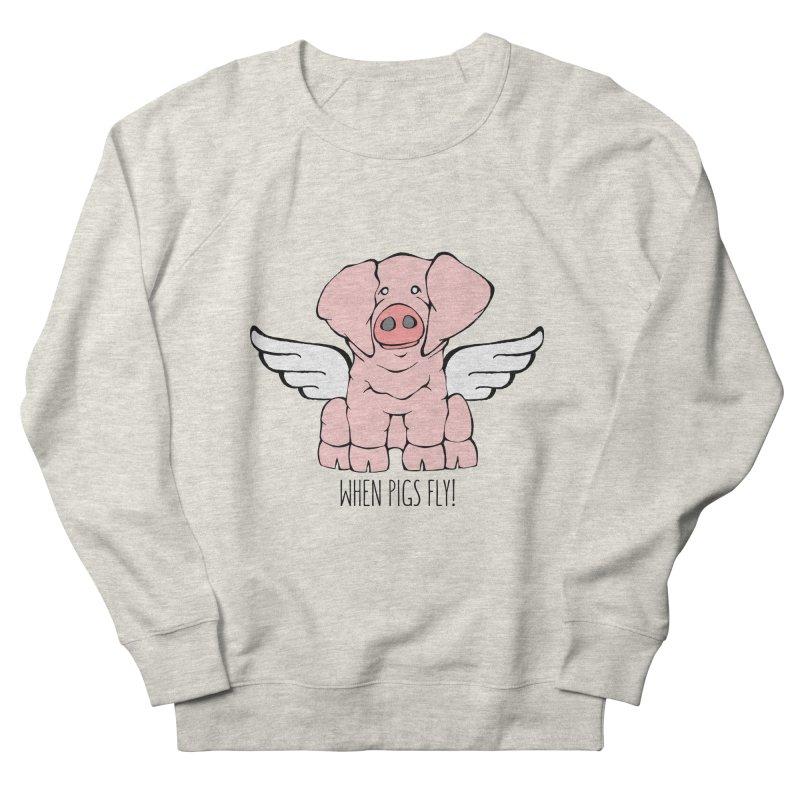 When Pigs Fly: American Landrace Women's Sweatshirt by Angry Squirrel Studio