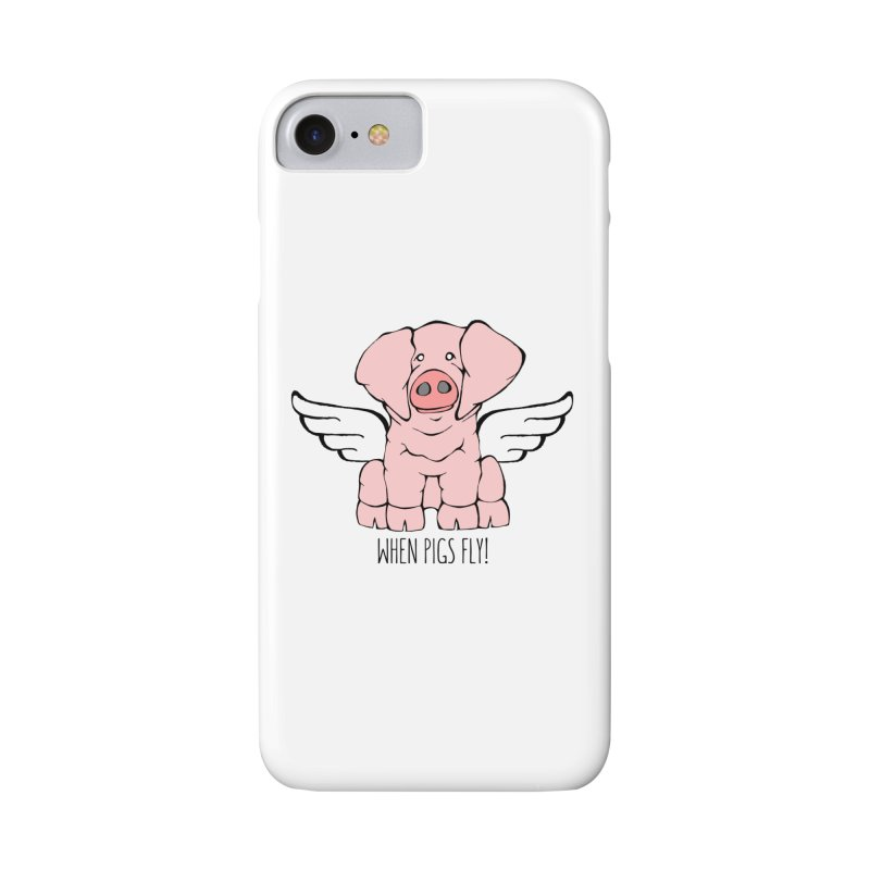 When Pigs Fly: American Landrace Accessories Phone Case by Angry Squirrel Studio
