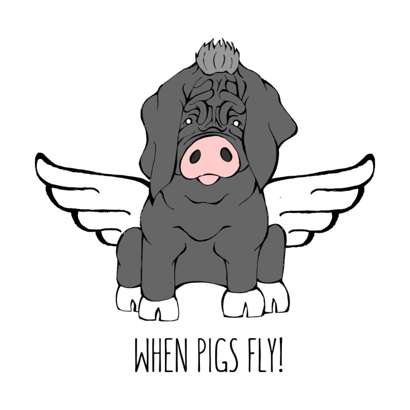 When Pigs Fly - Meishan Women's V-Neck by Angry Squirrel Studio