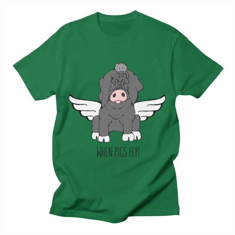 When Pigs Fly - Meishan Men's T-Shirt by Angry Squirrel Studio