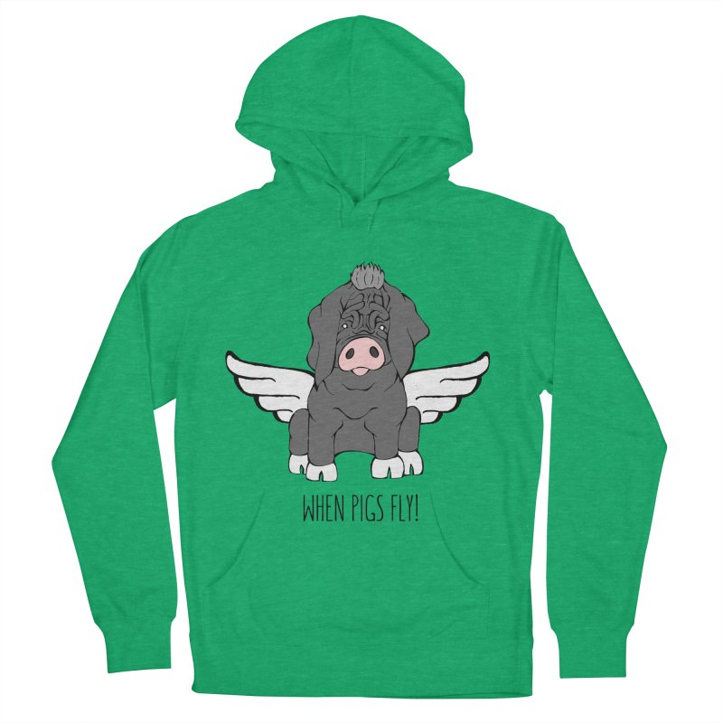 When Pigs Fly - Meishan Women's Pullover Hoody by Angry Squirrel Studio