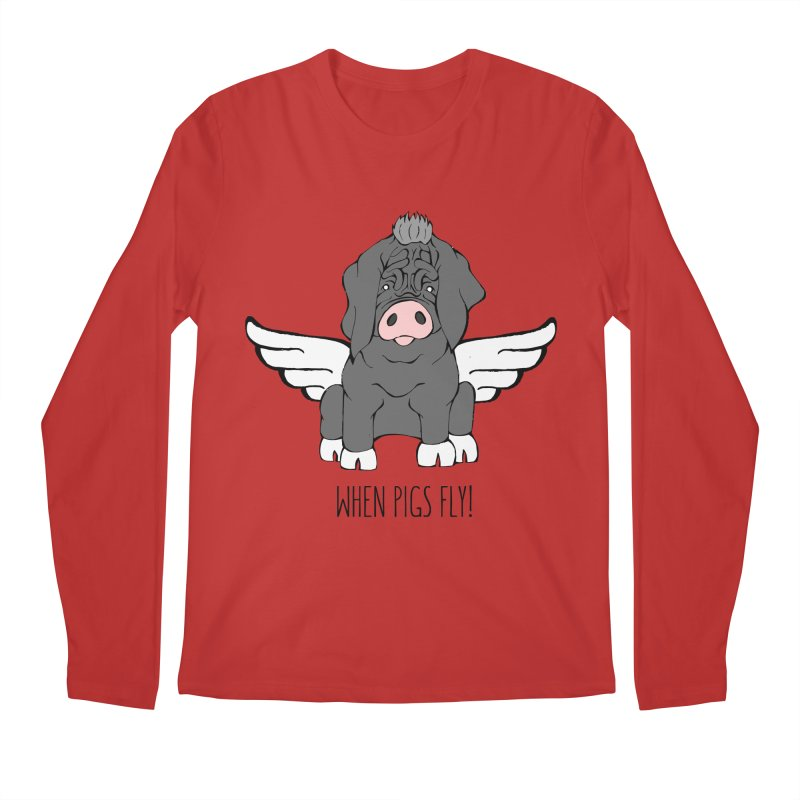 When Pigs Fly - Meishan Men's Longsleeve T-Shirt by Angry Squirrel Studio