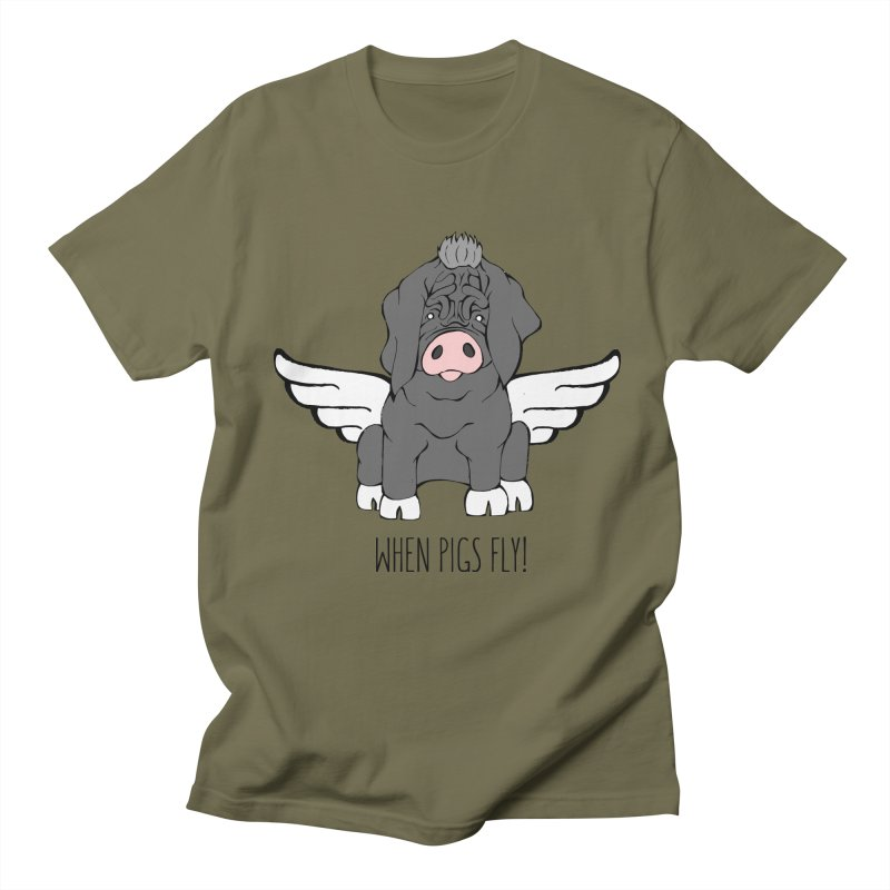 When Pigs Fly - Meishan Women's Regular Unisex T-Shirt by Angry Squirrel Studio