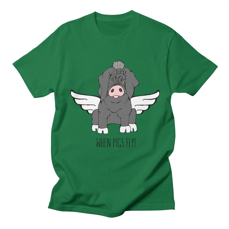 When Pigs Fly - Meishan Men's Regular T-Shirt by Angry Squirrel Studio