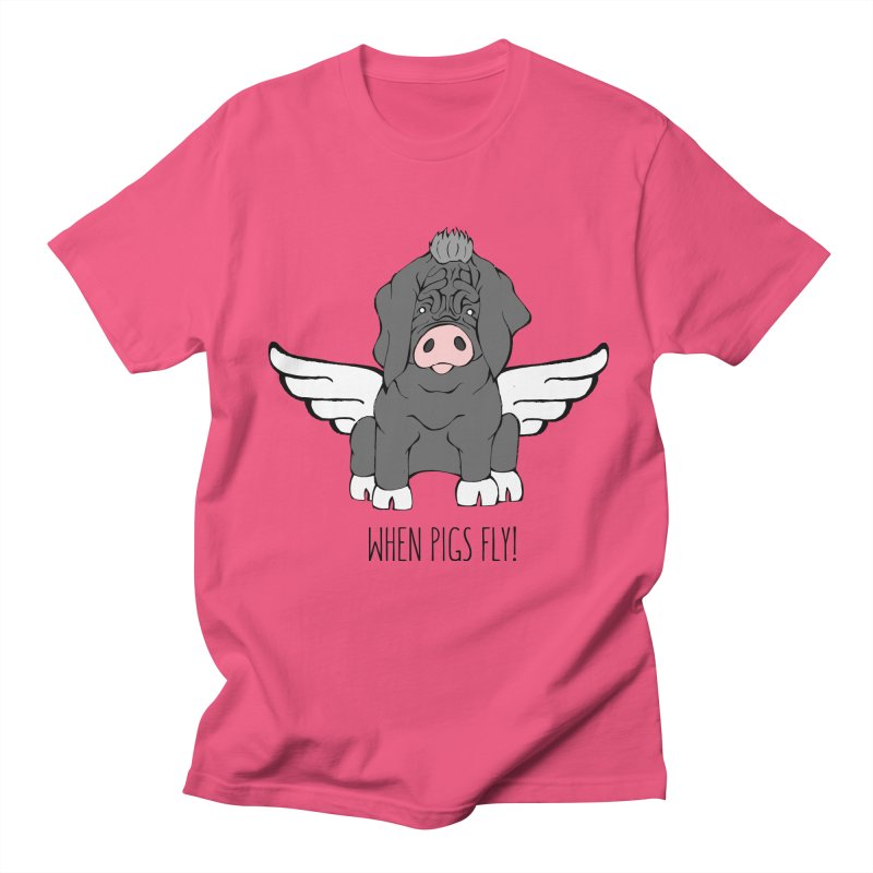 When Pigs Fly - Meishan Women's Unisex T-Shirt by Angry Squirrel Studio