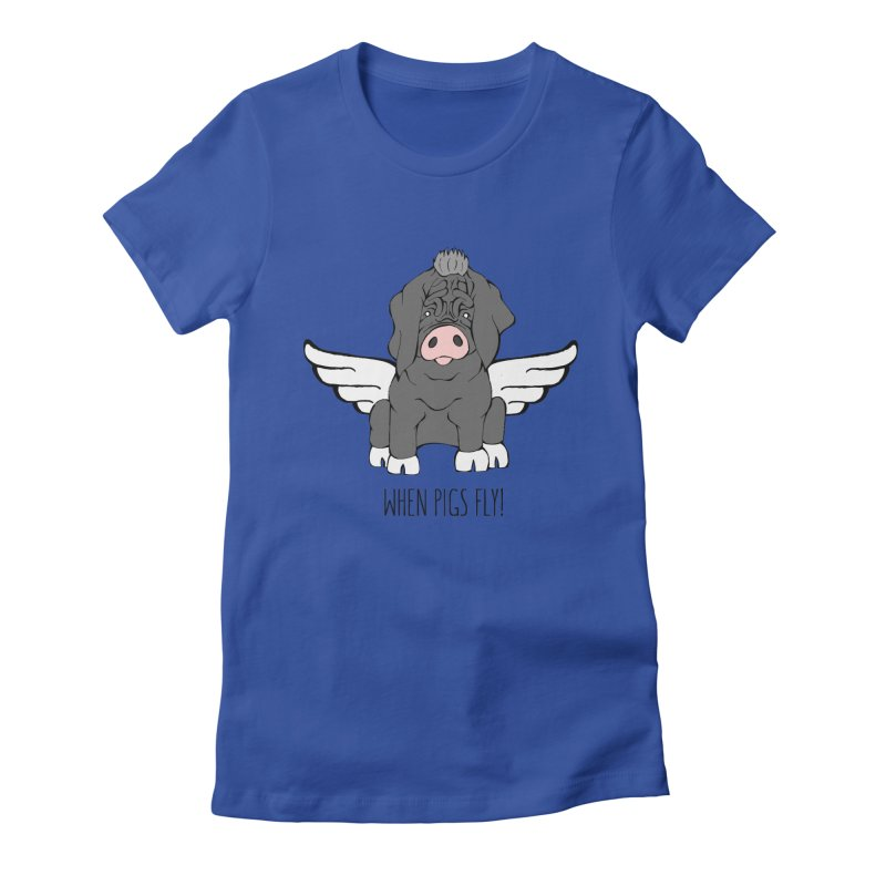 When Pigs Fly - Meishan Women's T-Shirt by Angry Squirrel Studio