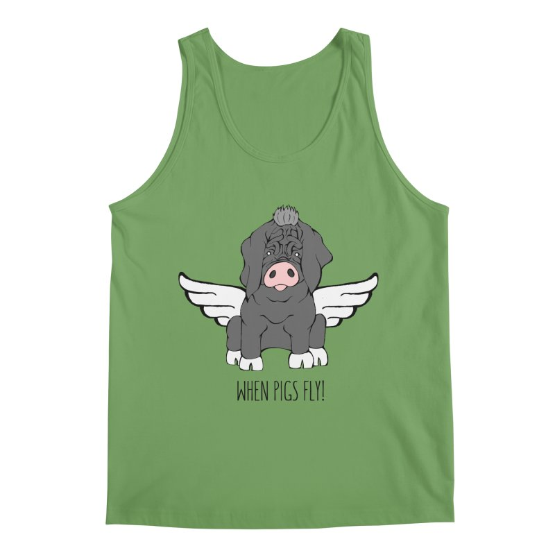 When Pigs Fly - Meishan Men's Tank by Angry Squirrel Studio