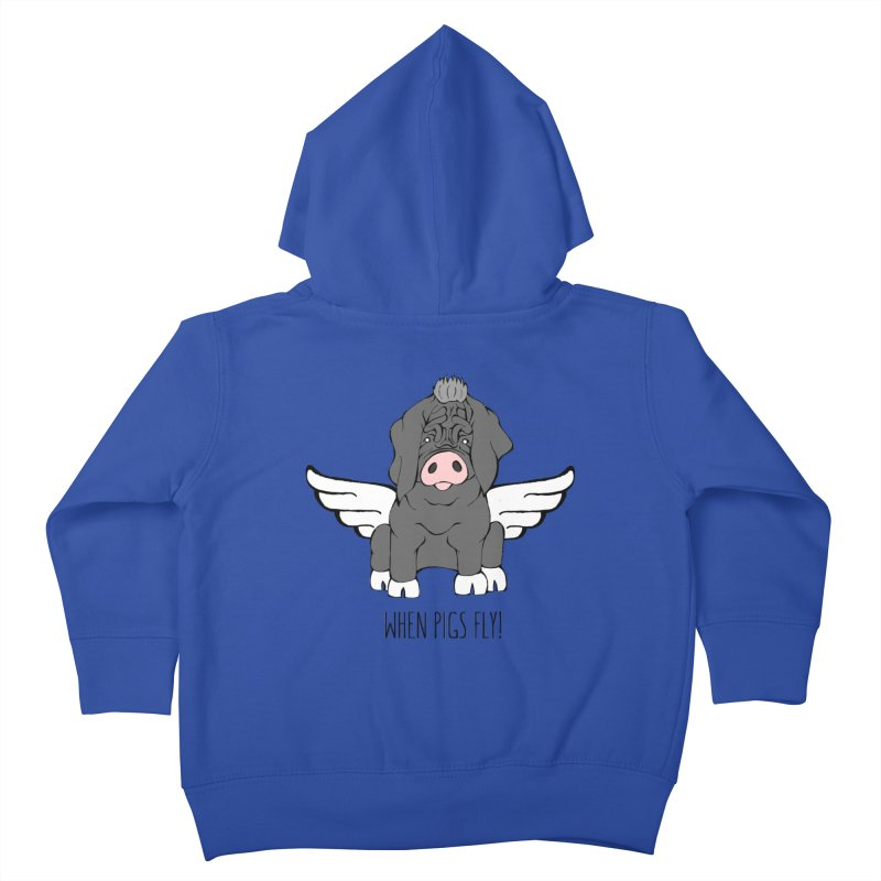 When Pigs Fly - Meishan Kids Toddler Zip-Up Hoody by Angry Squirrel Studio
