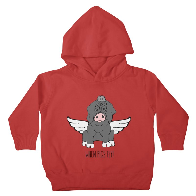 When Pigs Fly - Meishan Kids Toddler Pullover Hoody by Angry Squirrel Studio