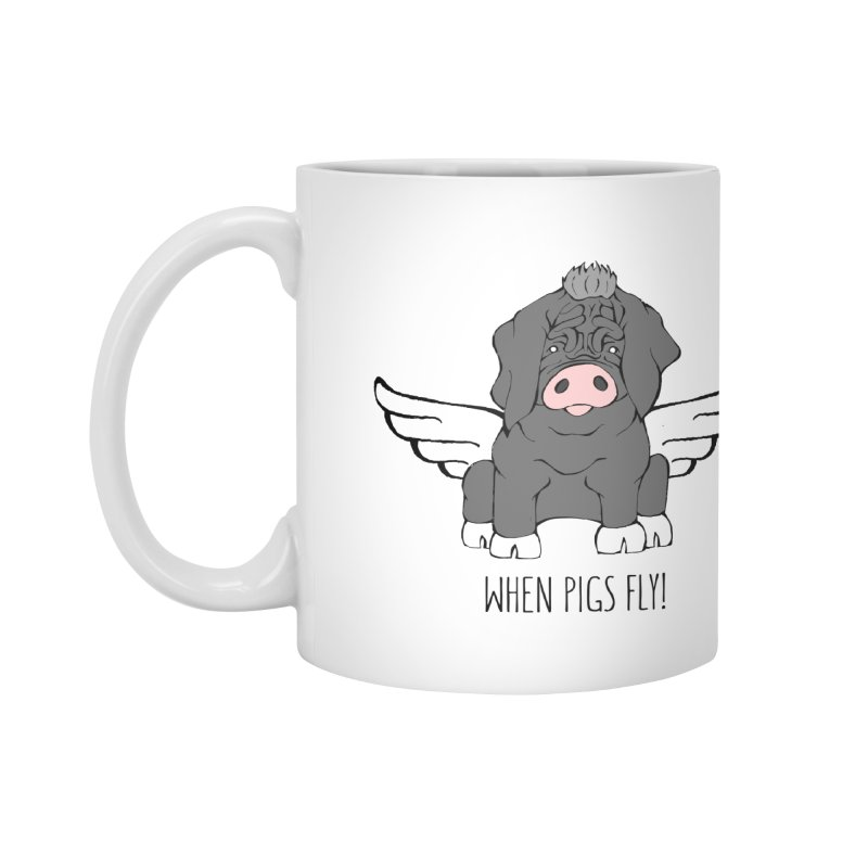 When Pigs Fly - Meishan Accessories Mug by Angry Squirrel Studio