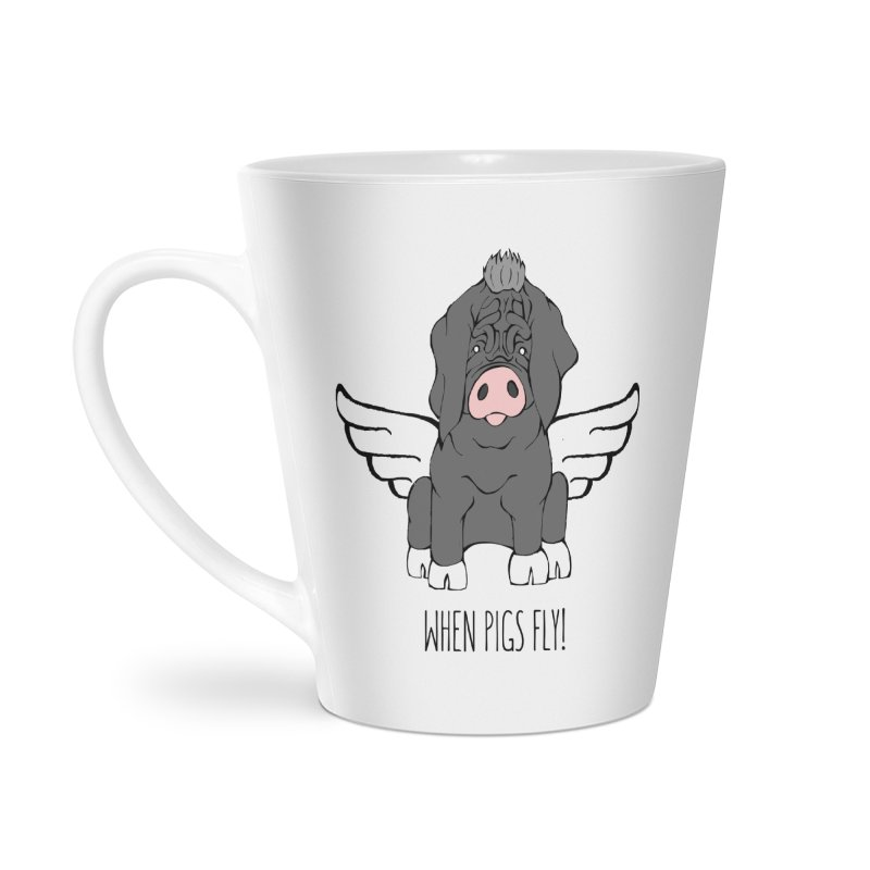 When Pigs Fly - Meishan Accessories Latte Mug by Angry Squirrel Studio