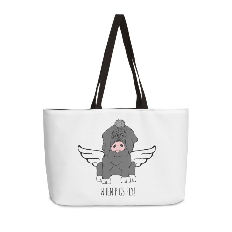 When Pigs Fly - Meishan Accessories Weekender Bag Bag by Angry Squirrel Studio