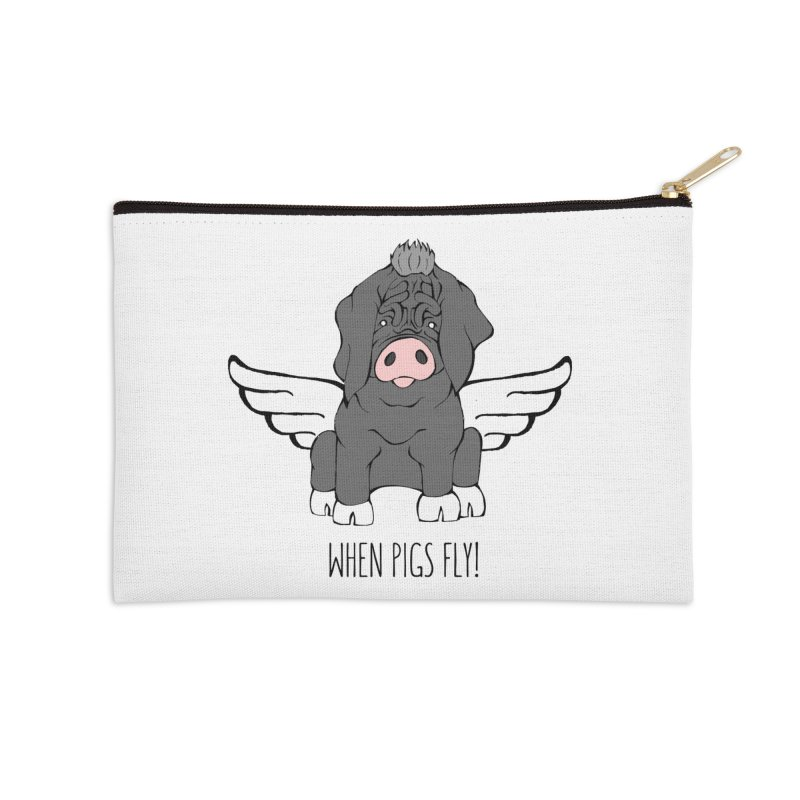 When Pigs Fly - Meishan Accessories Zip Pouch by Angry Squirrel Studio