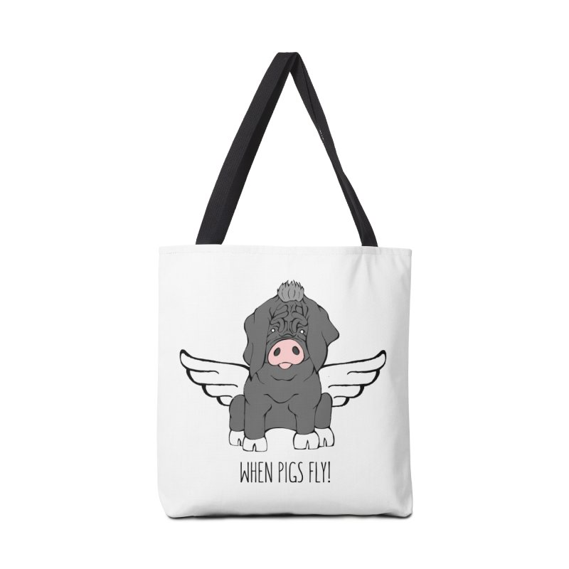 When Pigs Fly - Meishan Accessories Tote Bag Bag by Angry Squirrel Studio