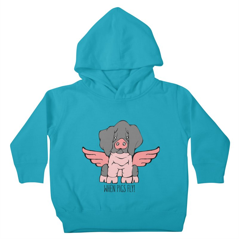 When Pigs Fly: Basque Kids Toddler Pullover Hoody by Angry Squirrel Studio