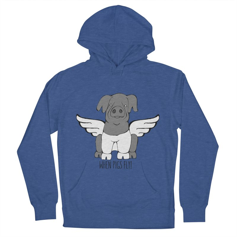 When Pigs Fly: Cinta Senese Women's French Terry Pullover Hoody by Angry Squirrel Studio