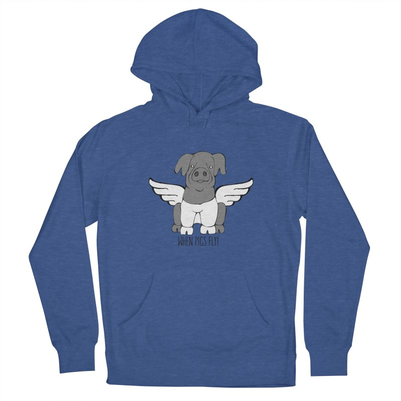 When Pigs Fly: Cinta Senese Women's Pullover Hoody by Angry Squirrel Studio