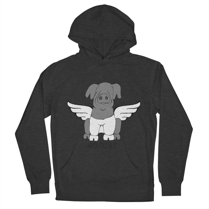 When Pigs Fly: Cinta Senese Men's Pullover Hoody by Angry Squirrel Studio